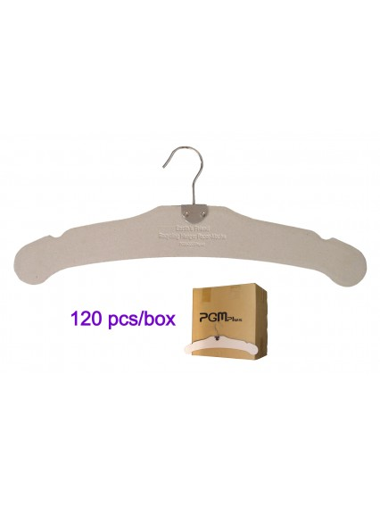 "dress form 17"" Paper Cardboard Hangers (120 pcs/box, 501A)"