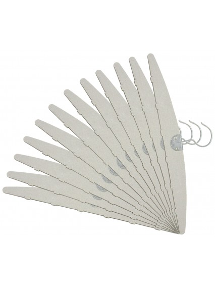 "dress form 13 1/2"" Paper Cardboard Hangers (12 pcs/pack, 501C-A)"