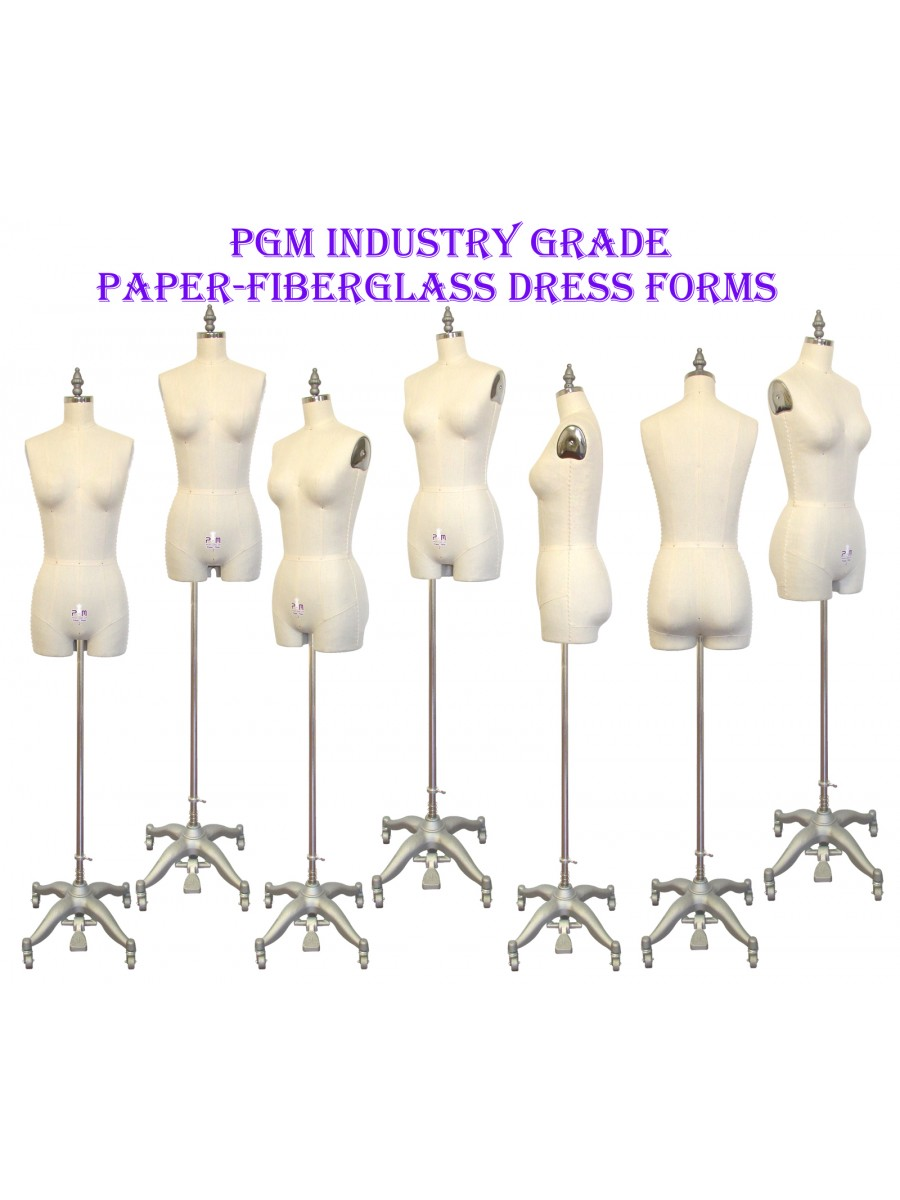 PGM Female Half Body Dress Form with Legs and Collapsible Shoulders Industry Grade 10 601A