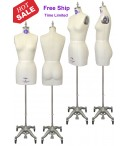 dress form Professional Female Dress Form with Hip and Collapsible Shoulder  (601)