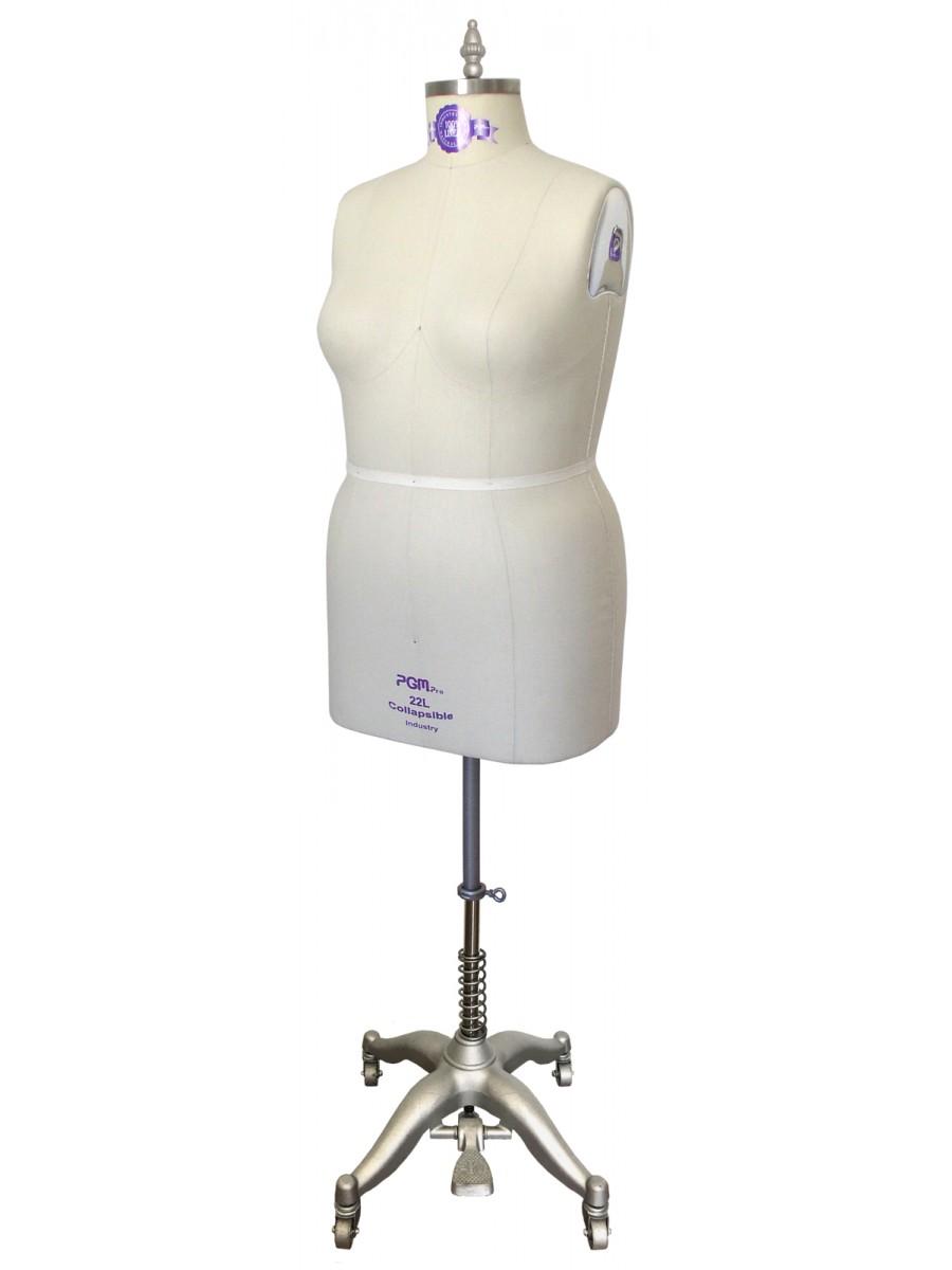 Professional Women Plus Size Dress Form w Hip (601L)