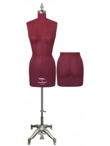 Dress form Female Dress Form with Hip and collapsible shoulders (maroon color,603-12)