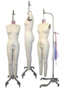 Industry Grade Female Full Body Dress Form with Collapsible Shoulders (605A)