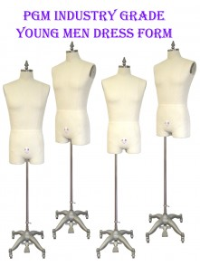Industry Grade Young Men Half Body Dress Form with Legs (607YA)