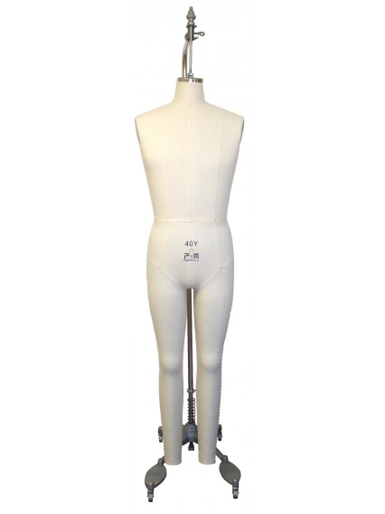Size 38Y Industry Grade Young Men Full Body Dress Form (608Y)