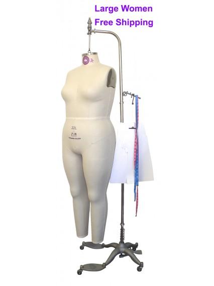 Women Plus Size Full Body Dress Form Pgm Industry Grade Large Women