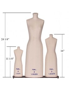 Dress form Education Miniature Dress Form in 3 Scale Set  (#615, 1/2 scale, 1/4 scale, 1/8 scale)