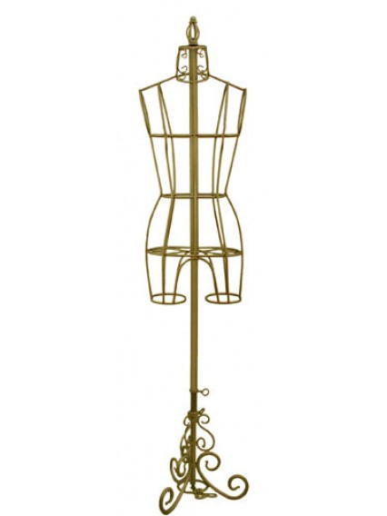 dress form Antique Metal Dress Form Display  (Antique Gold Color, 901A-A)