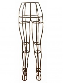 Dress form Wrought Iron Pants Form  (Raw-Steel Color, 901F)