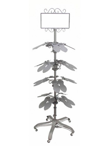 dress form Shoe Rolling Racks w Sign Holder (909E-A)