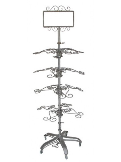 dress form Shoe Rolling Racks w Sign Holder (909F-A)