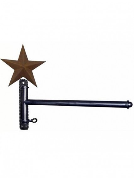dress form Garment Wall Mount Racks w Straight Arm & Barn Star (911A-B)