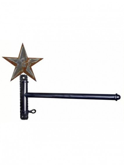 dress form Garment Wall Mount Racks w Straight Arm & Barn Star (911A-C)