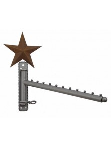Dress form Waterfall Wall Mounted Racks w Barn Star (911B-B)