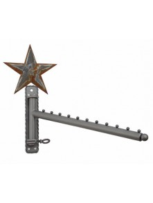 Dress form Waterfall Wall Mounted Racks w Barn Star (911B-C)