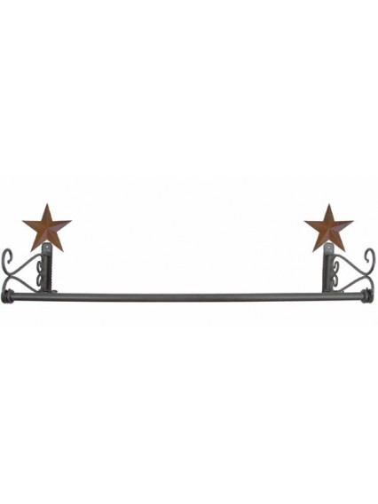 dress form Wall Mount Hangrail w Barn Stars (911D-B)