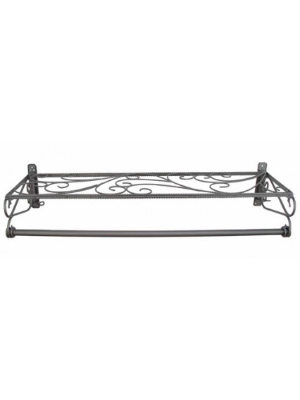 dress form Wall Mount Hangrail w Shelf (911E-A)