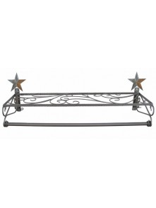 Dress form Wall Mount Hangrail w Shelf & Barn Star (911E-C)