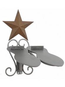 Dress form Shoe Racks Wall Mount w Barn Star (911K)