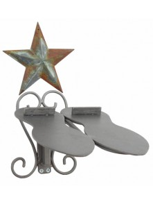 Dress form Shoe Racks Wall Mount w Barn Star (911L)