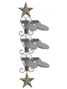 Dress form Shoe Racks Wall Mount w Barn Star (911L-A)