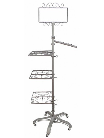 dress form Garment Racks w Shelves/Arm/Sign Holder (912AS-A)
