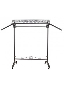 Dress form Garment Rolling Rack w Shelf/2 Hangrails (912X-A)