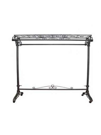 Garment Rolling Racks w Shelf /2 Hangrails (912XP)