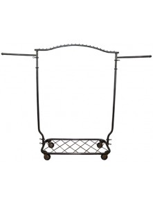 Dress form Arched Garment Rolling Racks w Shelf (912Y)