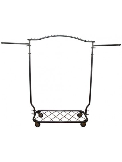 Arched Garment Rolling Racks w Shelf (912Y)