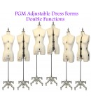Adjustable Sewing Dress Forms (ADF601, cream white)