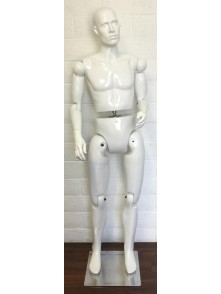 Dress form Male Movable Mannequin Adjustable (201MW)