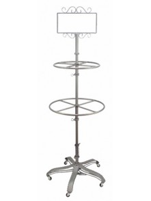 Dress form Garment Rolling Round Rack w Sign Holder (912E-A)