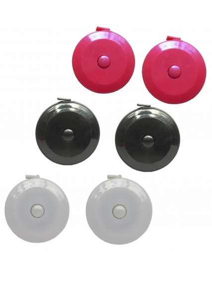 dress form Retractable Tape Measurement with Inch and Metric (801FA-A, 6pcs/pack)