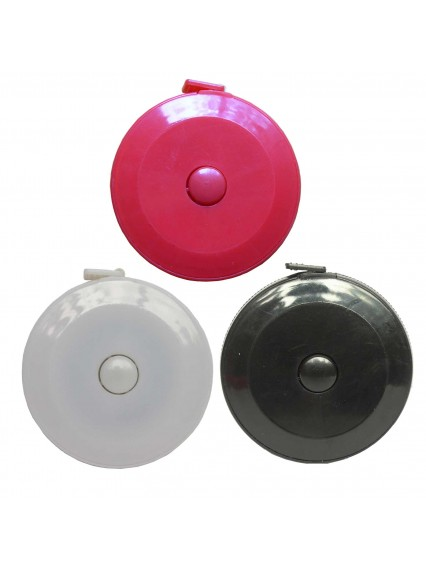 dress form Retractable Tape Measurement with Inch and Metric (801FA-B, 3pcs/pack)