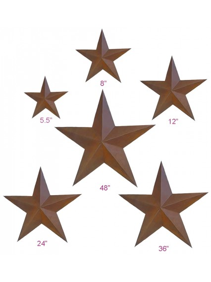 dress form Rustic Barn Star (6pcs/set x 3 sets, 101-A)