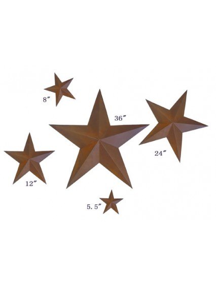 dress form Rustic Barn Star (5pcs x 5 sets, 101-B)
