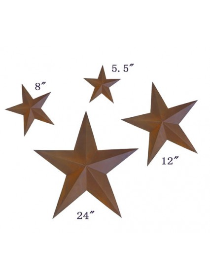 dress form Rustic Barn Star (4pcs/set x 3 sets, 101-C)