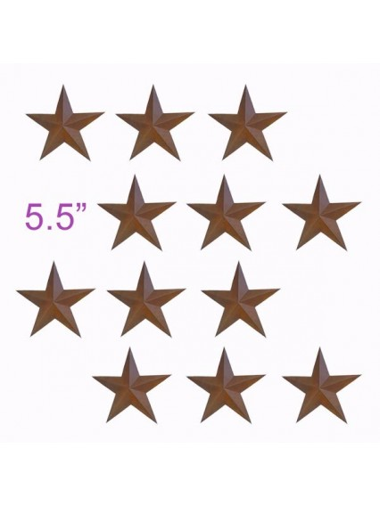 "dress form Rustic Barn Star (5.5"", 101-E) x 12 pcs"
