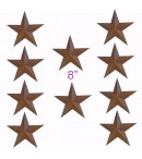 "dress form Rustic Barn Star (8"", 101-F) x 10 pcs"