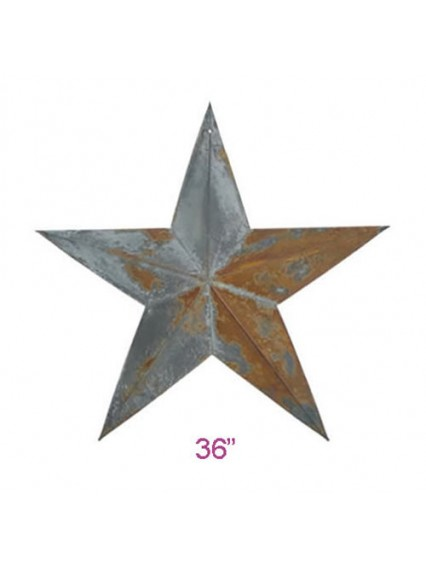 "dress form Irregular Rustic Barn Star (36"") x 6 pcs (102-36)"