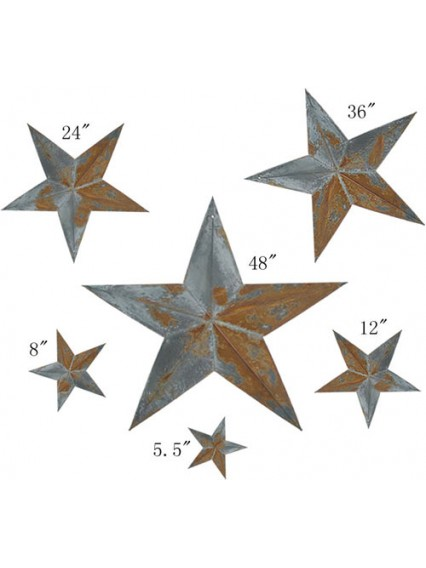 dress form Irregular Rustic Barn Star (6pcs/set x 3 sets, 102-A)