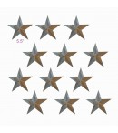 "dress form Irregular Rustic Barn Star (5.5"", 102-E) x 12 pcs"