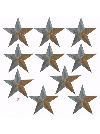 "dress form Irregular Rustic Barn Star (8"", 102-F) x 10 pcs"