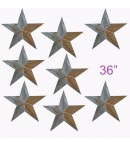 "dress form Irregular Rustic Barn Star (36"", 102-J) x 8 pcs"
