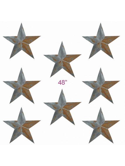 "dress form Irregular Rustic Barn Star  (48"")"
