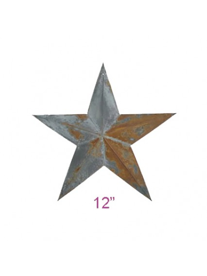 "dress form Irregular Rustic Barn Star (12"", 102-12)"
