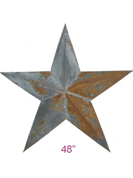 "dress form Irregular Rustic Barn Star (48"", 102-48) x 6pcs"