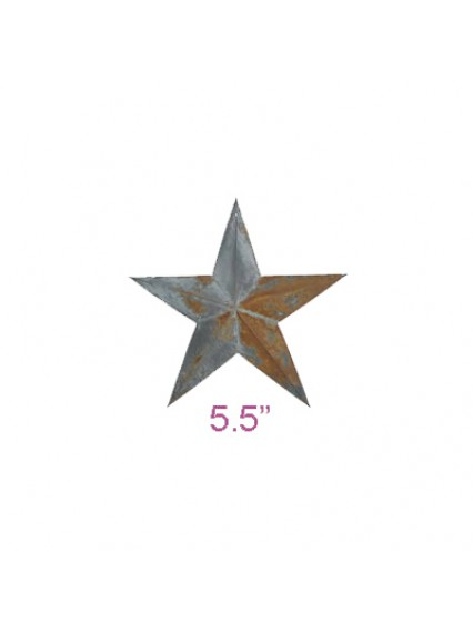"dress form Irregular Rustic Barn Star (5.5"", 102-5.5)"