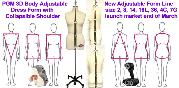 3D Body Scaner, Adjustable Dress Form, Sewing Dress Forms